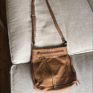 Lucky brand leather shoulder bag